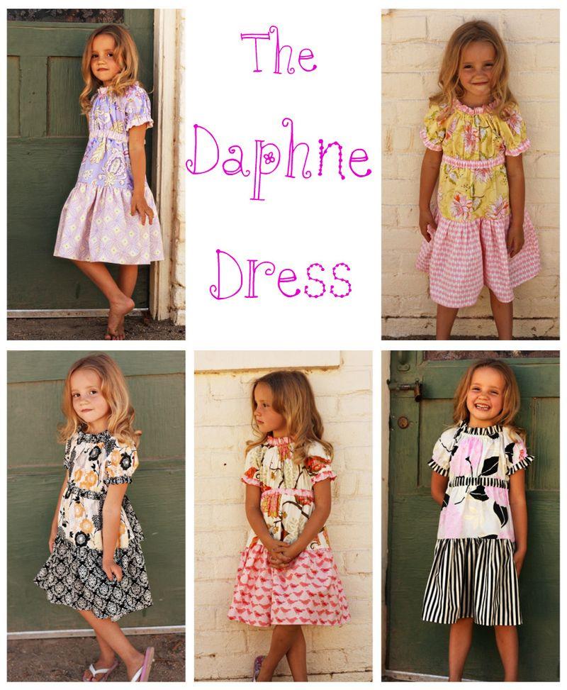 Daphne dress collage