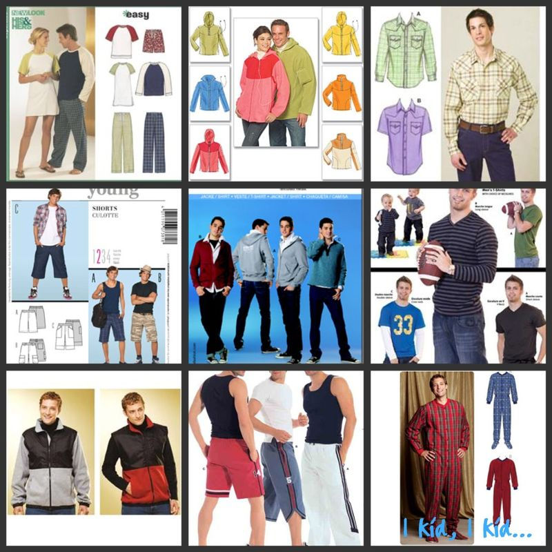 Sewing patterns teen boys