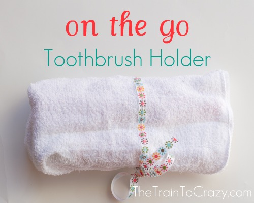 On the go toothbrush holder