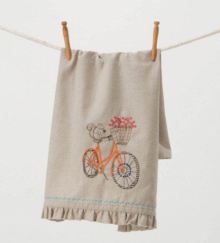 bicycle dish towel