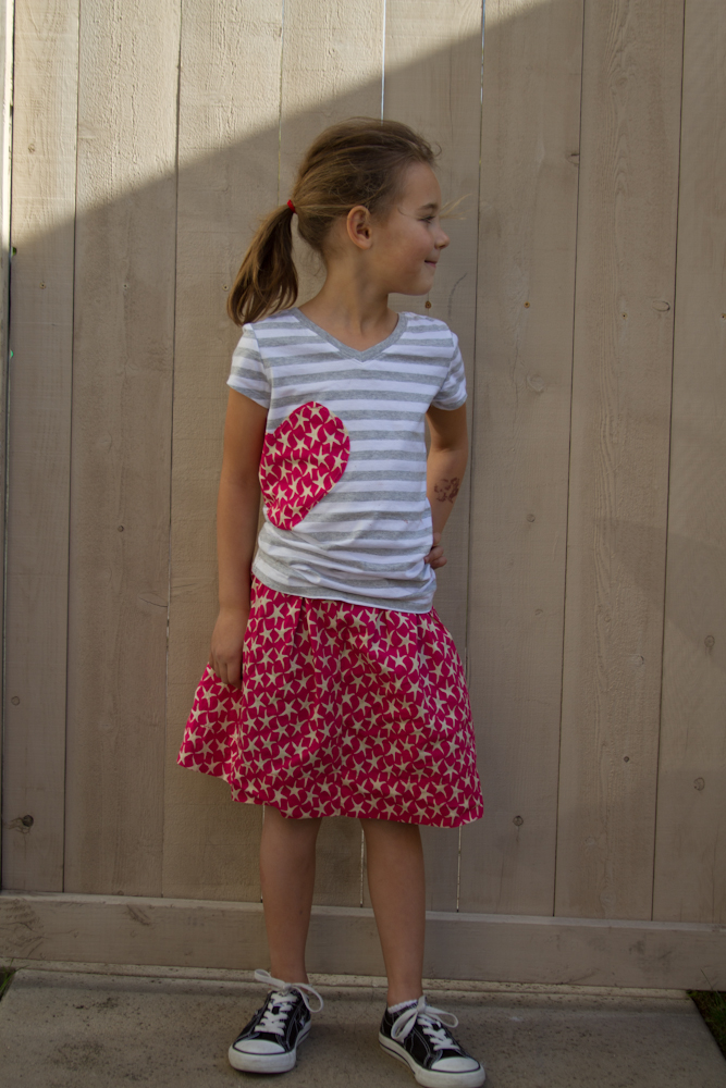 simple valentines skirt