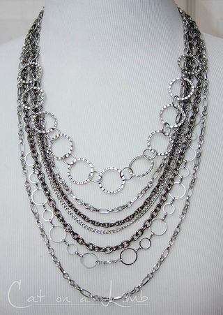 draped chain necklace tutorial