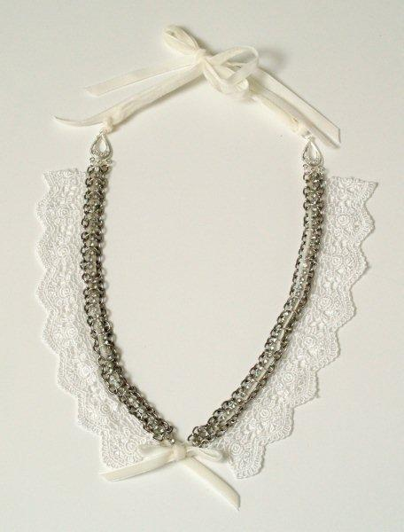 anthro lace bib necklace