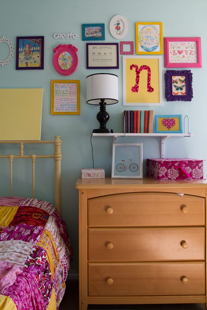 colorful frame wall