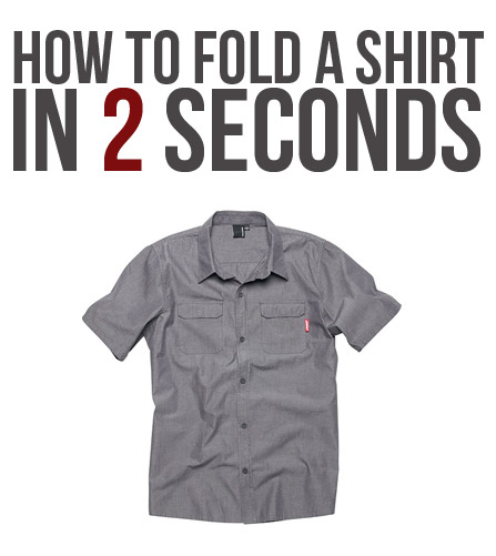 How to fold a shirt in 2 seconds. seriously.