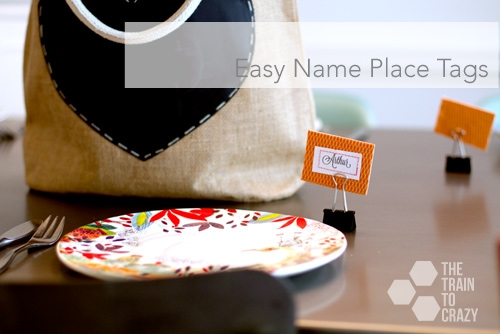 Easy Name Place Tags tutorial