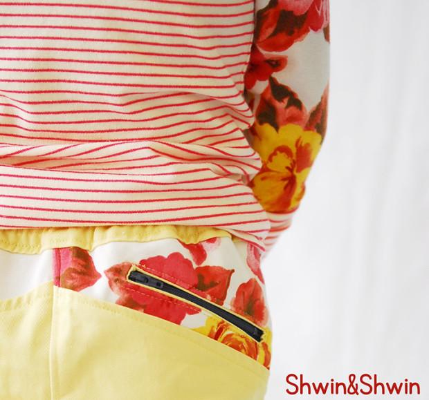 great zipper back pocket detail by Shwin & Shwin!